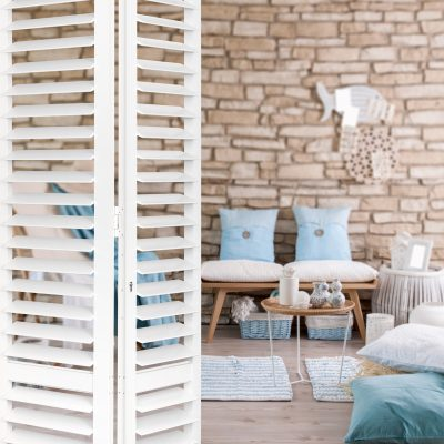 Satin White Aluminium Shutters
