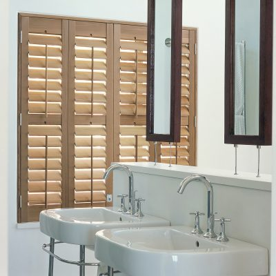 Bathroom Shutters - Wood Texture